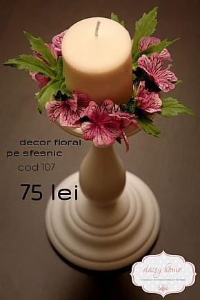 107 decor floral pe sfesnic alb