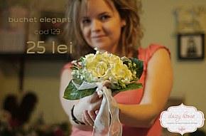 129 buchet trandafiri elegant