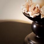 decor floral cu inel din flori