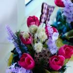 set ghiveci cu flori