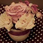 ghiveci cu trandafiri
