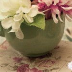 aranjament floral in cana vintage