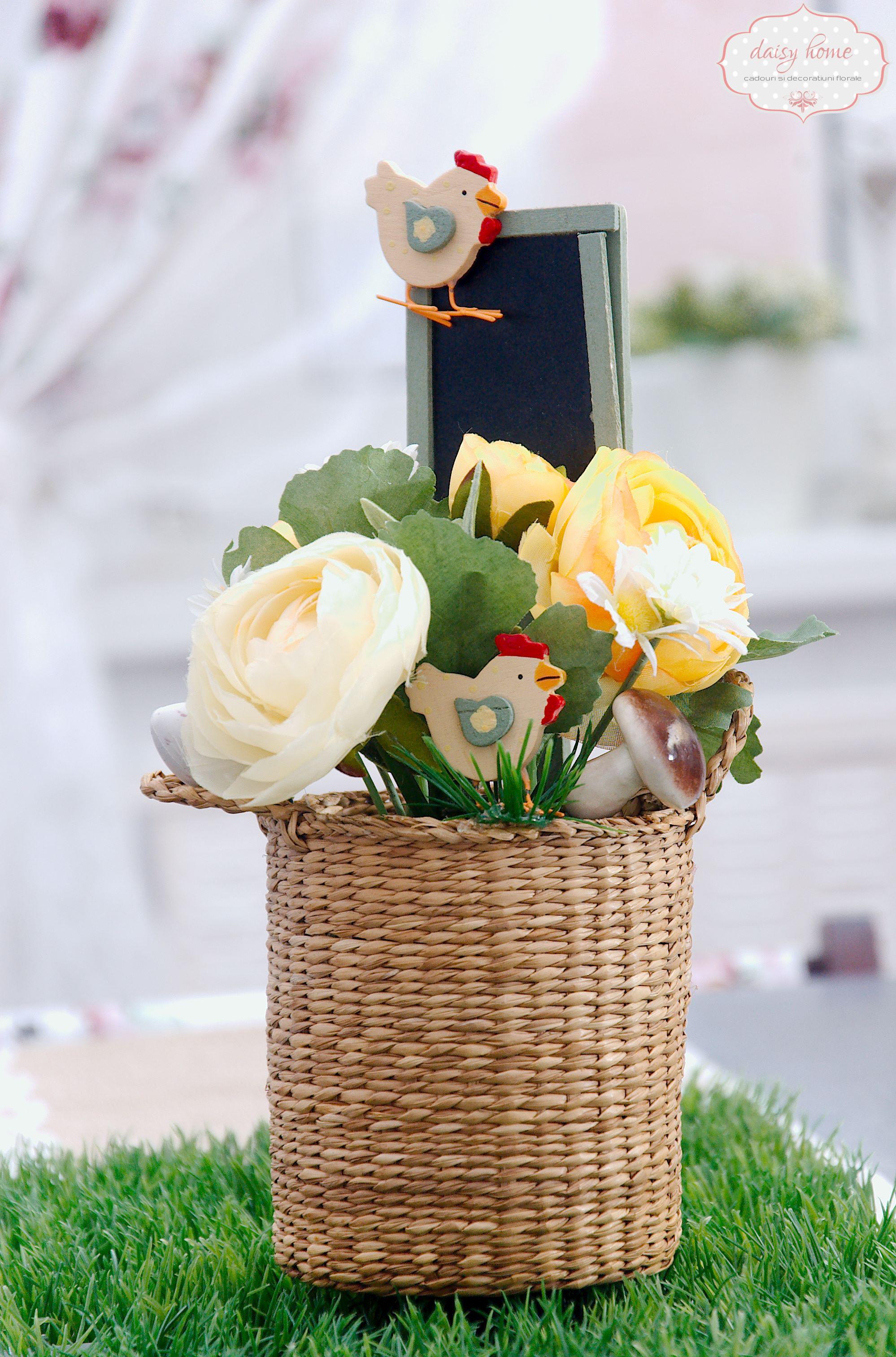 Cosulet cu flori pascal