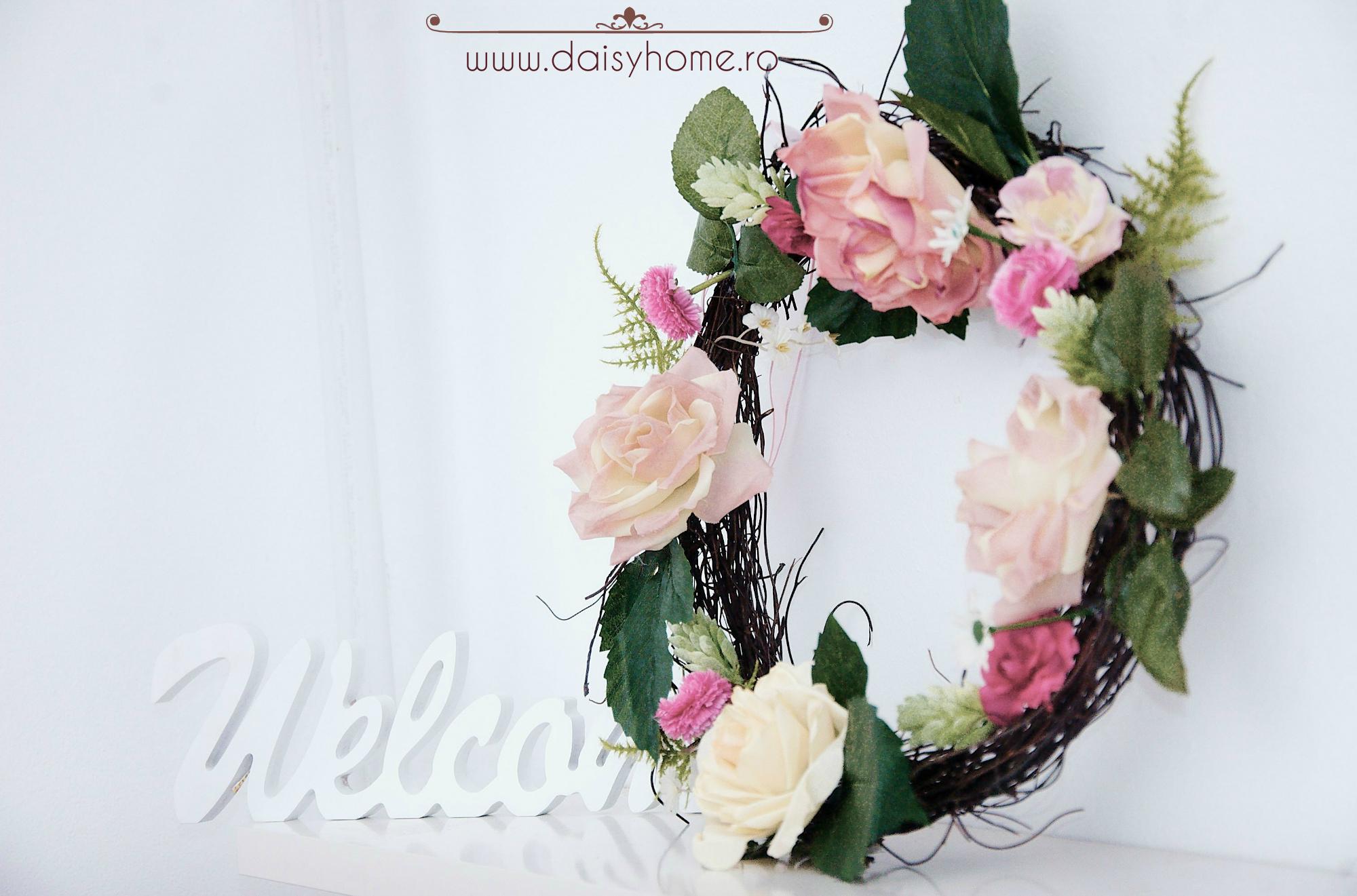 coronita cu flori artificiale2